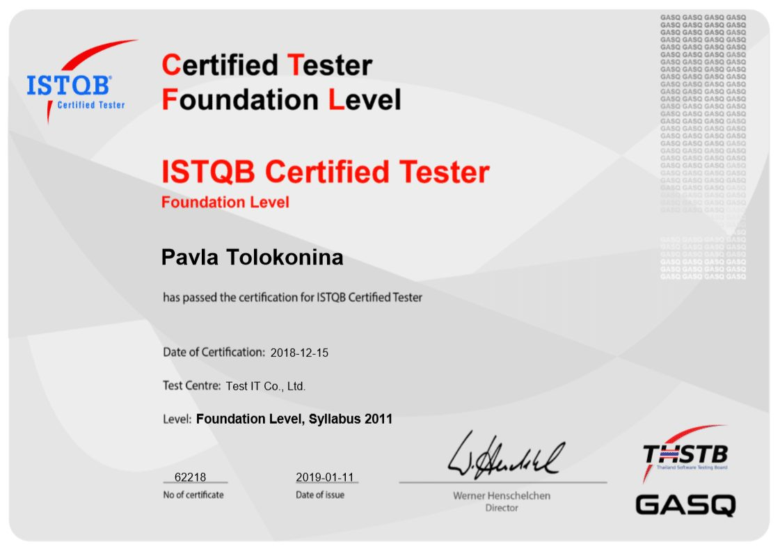 What is ISTQB certificate?