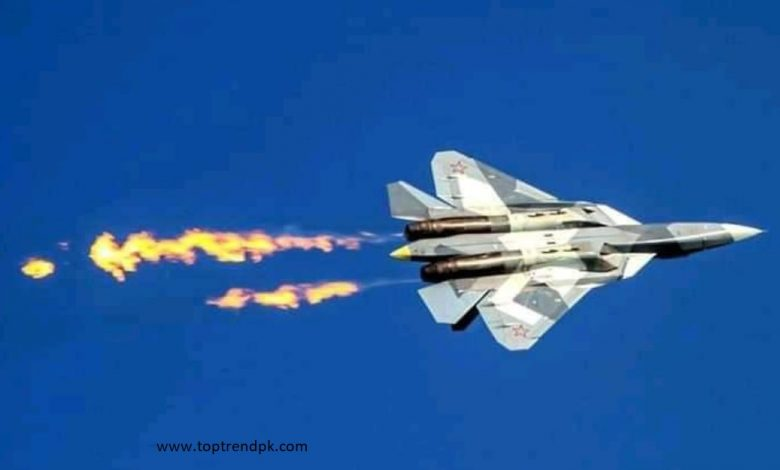 Russia's latest Sukhoi-57 aircraft crashed during its experimental flight.