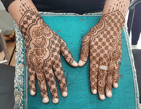Criss Cross Mehndi designs 8 100 New Mehndi Designs Collection |Simple Mehndi Designs|