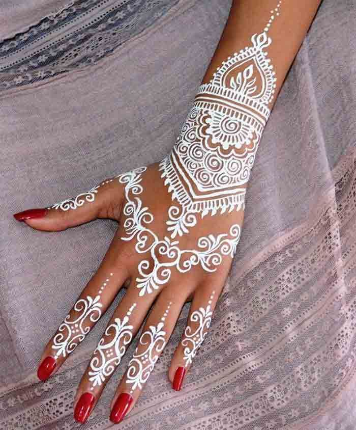 White Mehndi Designs