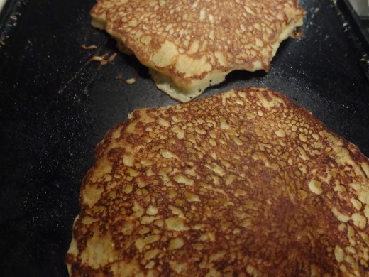 Lightweight light and fluffy pancakes with crispy edges