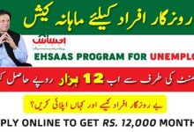 Photo of Ehsaas Labour Program Web Portal For Apply Online