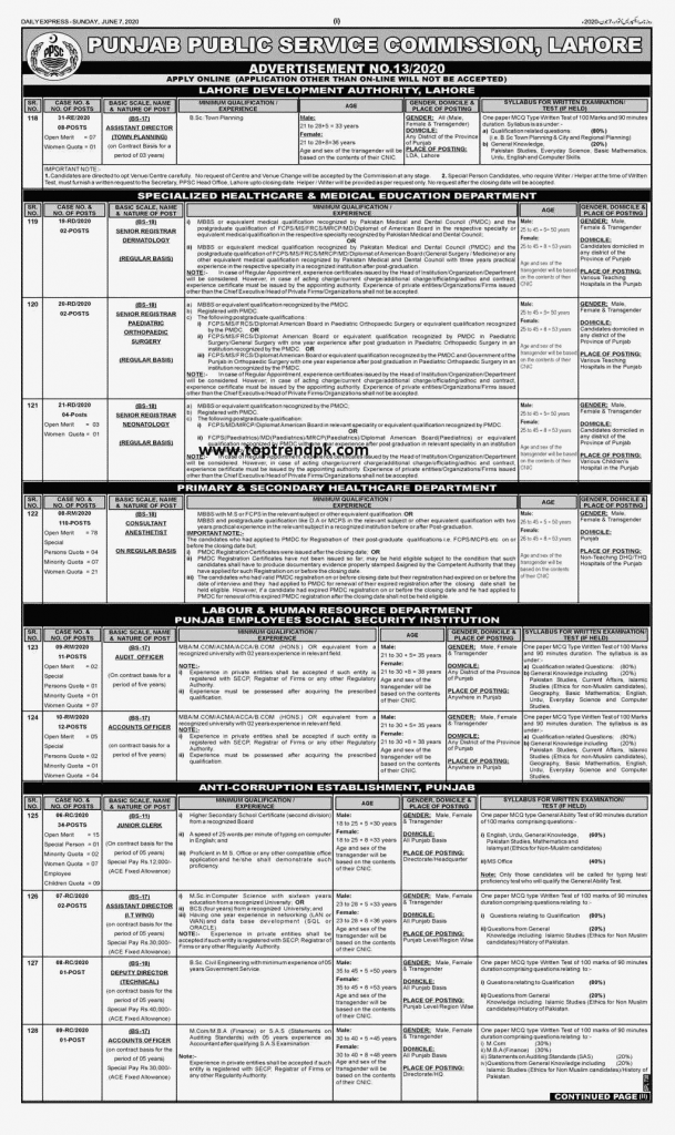 PPSC Jobs June 2020 Latest Anti corruption jobs 2020 [Apply Online]
