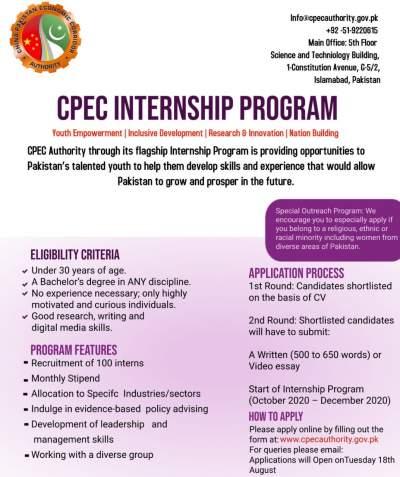 CPEC Internship Program 2020 toptrendpk.com Lastest Jobs Through CPEC Internship Program 2020, Apply Today