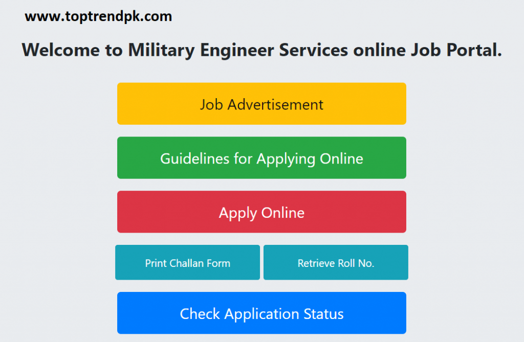 MES Jobs 2020 www.toptrendpk.com Latest Jobs In Announced Military Engineering Service| MES Jobs 2020