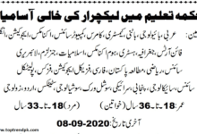 Photo of Latest PPSC Lecturer Jobs 2020 Apply online Now