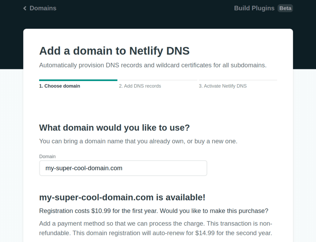 Nothing To Pay For Your Own Domain