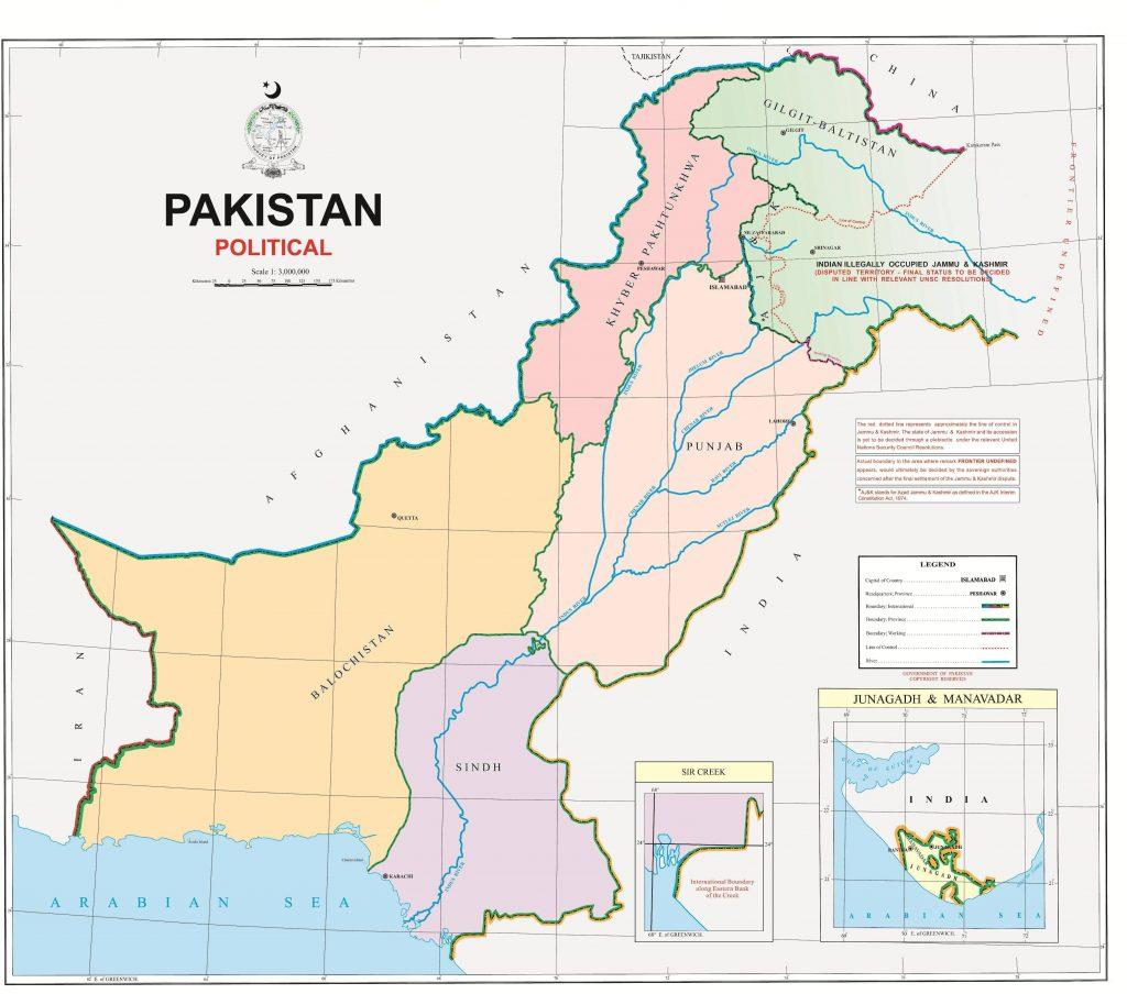 New Map Of Pakistan