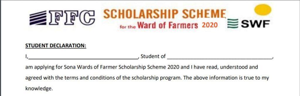 FFC Scholarship Scheme  2020