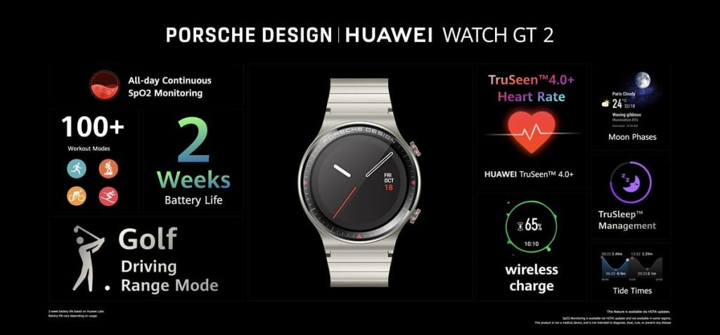 Huawei announces the Porsche Design Watch GT 2