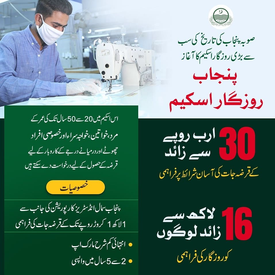Punjab Rozgar Scheme 2020 Web Portal