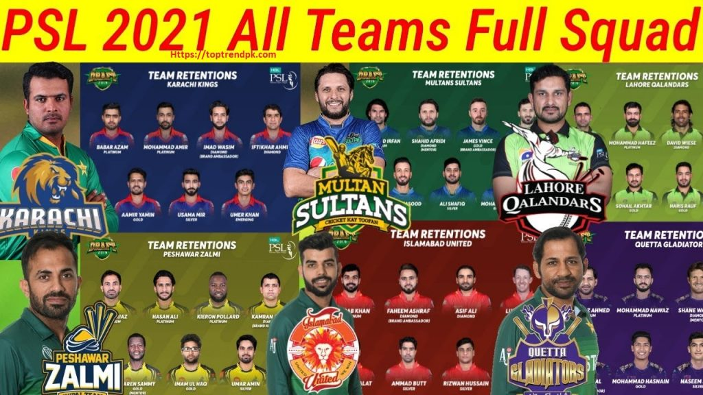 PSL 2021 PSL Schedule 2021 -MATCH, DATE, TIMING & VENUE