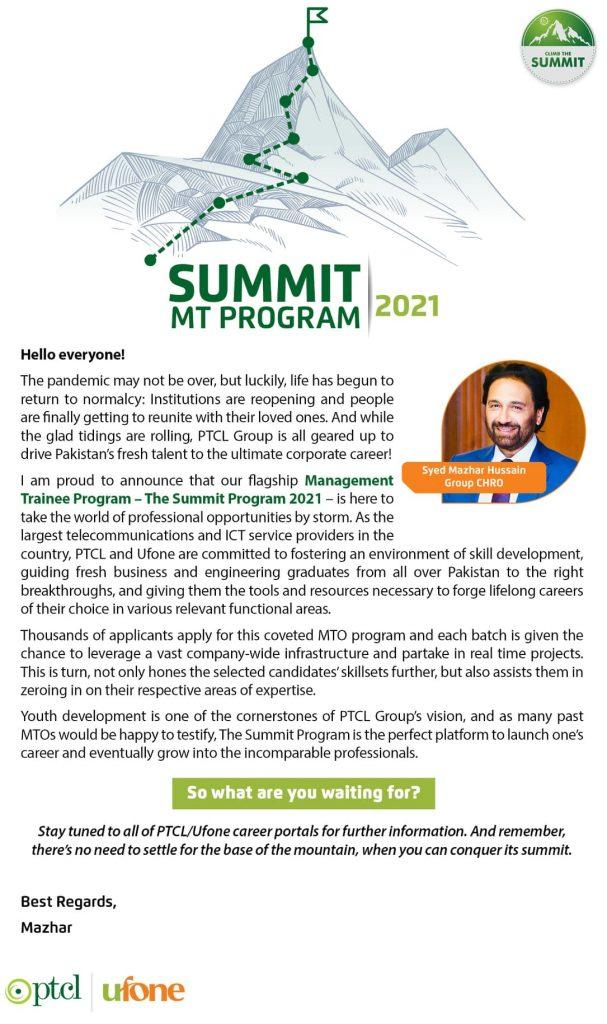 PTCL Summit Program 2021 Online Registration